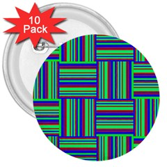 Fabric Pattern Design Cloth Stripe 3  Buttons (10 Pack)  by Nexatart