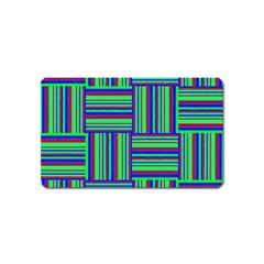Fabric Pattern Design Cloth Stripe Magnet (name Card) by Nexatart