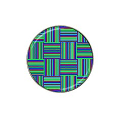 Fabric Pattern Design Cloth Stripe Hat Clip Ball Marker (4 Pack)