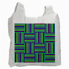 Fabric Pattern Design Cloth Stripe Recycle Bag (two Side)  by Nexatart