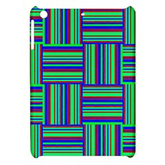 Fabric Pattern Design Cloth Stripe Apple Ipad Mini Hardshell Case by Nexatart