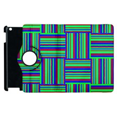 Fabric Pattern Design Cloth Stripe Apple Ipad 3/4 Flip 360 Case