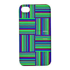 Fabric Pattern Design Cloth Stripe Apple Iphone 4/4s Hardshell Case With Stand