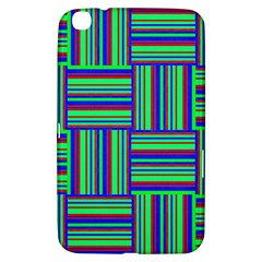 Fabric Pattern Design Cloth Stripe Samsung Galaxy Tab 3 (8 ) T3100 Hardshell Case