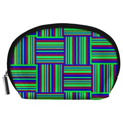 Fabric Pattern Design Cloth Stripe Accessory Pouches (large)  by Nexatart