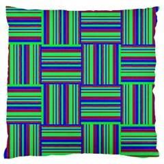 Fabric Pattern Design Cloth Stripe Large Flano Cushion Case (one Side)