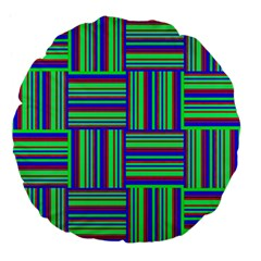 Fabric Pattern Design Cloth Stripe Large 18  Premium Flano Round Cushions by Nexatart