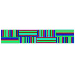 Fabric Pattern Design Cloth Stripe Flano Scarf (large)