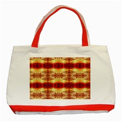 Fabric Design Pattern Color Classic Tote Bag (red)