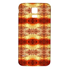 Fabric Design Pattern Color Samsung Galaxy S5 Back Case (white)