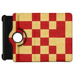 Fabric Geometric Red Gold Block Kindle Fire Hd 7  by Nexatart