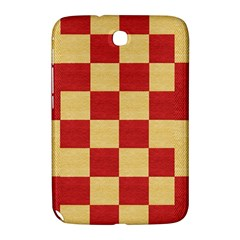Fabric Geometric Red Gold Block Samsung Galaxy Note 8 0 N5100 Hardshell Case  by Nexatart