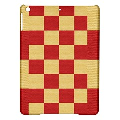 Fabric Geometric Red Gold Block Ipad Air Hardshell Cases
