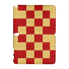 Fabric Geometric Red Gold Block Galaxy Note 1