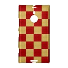 Fabric Geometric Red Gold Block Nokia Lumia 1520 by Nexatart