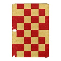 Fabric Geometric Red Gold Block Samsung Galaxy Tab Pro 12 2 Hardshell Case by Nexatart