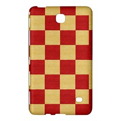 Fabric Geometric Red Gold Block Samsung Galaxy Tab 4 (7 ) Hardshell Case  by Nexatart