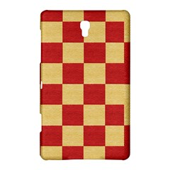 Fabric Geometric Red Gold Block Samsung Galaxy Tab S (8 4 ) Hardshell Case  by Nexatart