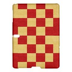 Fabric Geometric Red Gold Block Samsung Galaxy Tab S (10 5 ) Hardshell Case  by Nexatart