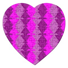 Fabric Textile Design Purple Pink Jigsaw Puzzle (heart)