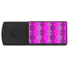 Fabric Textile Design Purple Pink Usb Flash Drive Rectangular (4 Gb) by Nexatart