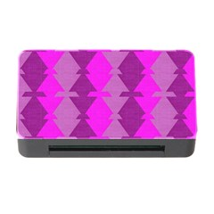 Fabric Textile Design Purple Pink Memory Card Reader With Cf