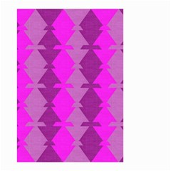 Fabric Textile Design Purple Pink Small Garden Flag (two Sides) by Nexatart