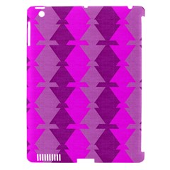 Fabric Textile Design Purple Pink Apple Ipad 3/4 Hardshell Case (compatible With Smart Cover)