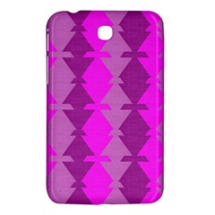 Fabric Textile Design Purple Pink Samsung Galaxy Tab 3 (7 ) P3200 Hardshell Case  by Nexatart