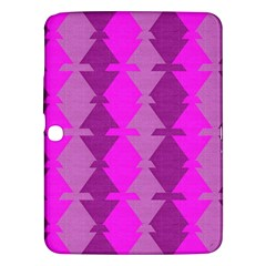 Fabric Textile Design Purple Pink Samsung Galaxy Tab 3 (10 1 ) P5200 Hardshell Case  by Nexatart