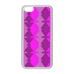 Fabric Textile Design Purple Pink Apple Iphone 5c Seamless Case (white)