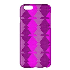 Fabric Textile Design Purple Pink Apple Iphone 6 Plus/6s Plus Hardshell Case by Nexatart