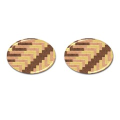 Fabric Textile Tiered Fashion Cufflinks (oval) by Nexatart