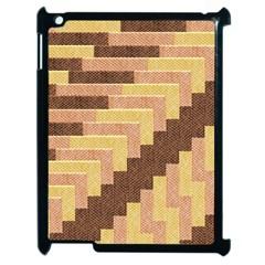 Fabric Textile Tiered Fashion Apple Ipad 2 Case (black) by Nexatart