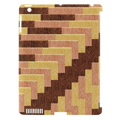 Fabric Textile Tiered Fashion Apple Ipad 3/4 Hardshell Case (compatible With Smart Cover)