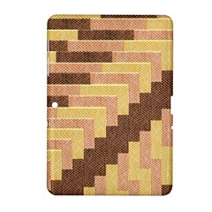 Fabric Textile Tiered Fashion Samsung Galaxy Tab 2 (10 1 ) P5100 Hardshell Case  by Nexatart
