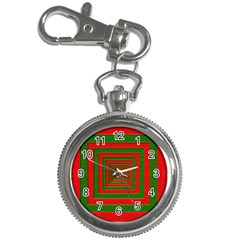 Fabric Texture 3d Geometric Vortex Key Chain Watches