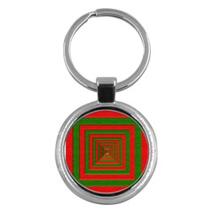 Fabric Texture 3d Geometric Vortex Key Chains (round)