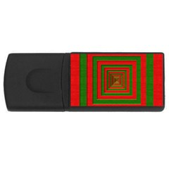 Fabric Texture 3d Geometric Vortex Usb Flash Drive Rectangular (4 Gb)