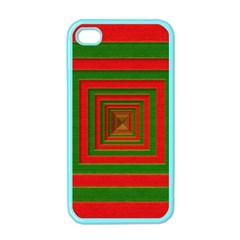 Fabric Texture 3d Geometric Vortex Apple Iphone 4 Case (color)
