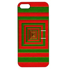 Fabric Texture 3d Geometric Vortex Apple Iphone 5 Hardshell Case With Stand