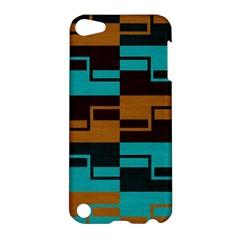 Fabric Textile Texture Gold Aqua Apple Ipod Touch 5 Hardshell Case