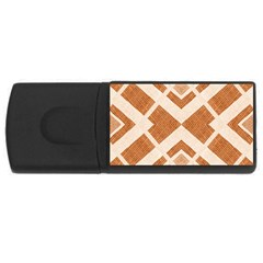 Fabric Textile Tan Beige Geometric Usb Flash Drive Rectangular (4 Gb)