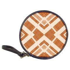 Fabric Textile Tan Beige Geometric Classic 20 Cd Wallets
