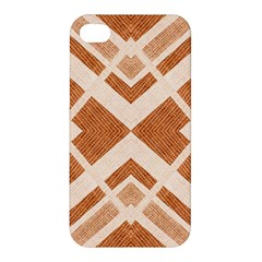 Fabric Textile Tan Beige Geometric Apple Iphone 4/4s Hardshell Case