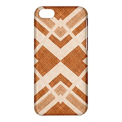 Fabric Textile Tan Beige Geometric Apple Iphone 5c Hardshell Case