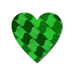 Fabric Textile Texture Surface Heart Magnet