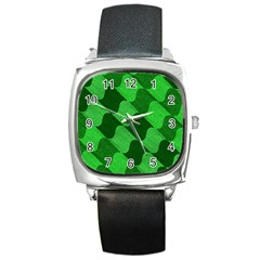 Fabric Textile Texture Surface Square Metal Watch