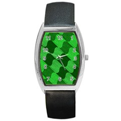 Fabric Textile Texture Surface Barrel Style Metal Watch
