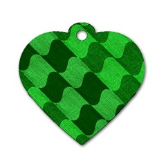 Fabric Textile Texture Surface Dog Tag Heart (one Side)